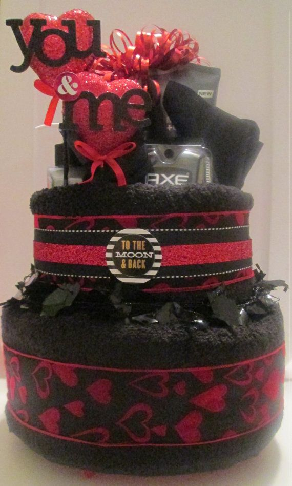 Valentine's Day Towel Cake for Him on Etsy, $65.00