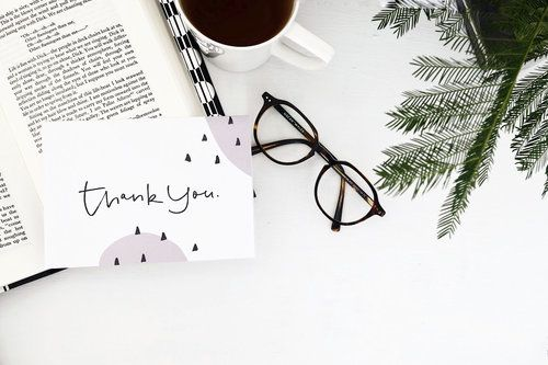CARD | Thank You  hand lettering thank you greeting card