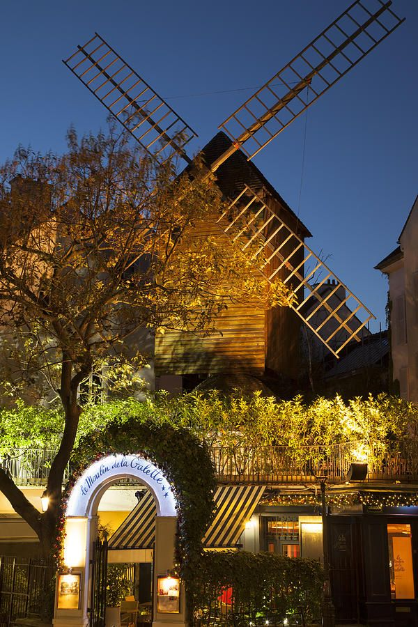Moulin de la Galette, a windmill situated near the top of the district of Montmartre in Paris
