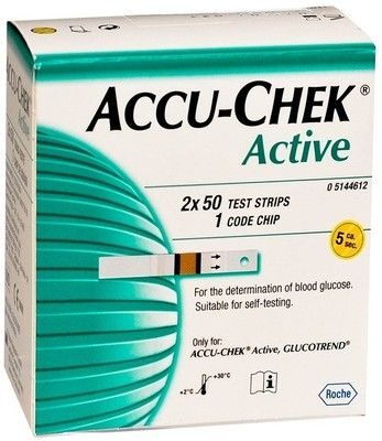 Accu-Chek Active Test Strips – Glucometer ( 100 Pieces ) @ Rs 1149