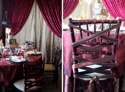 Steampunk Inspired Table And Chair Decorations