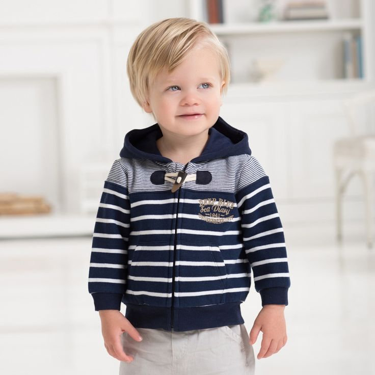 Stripped Cotton Hoody for boys by Dave Bella Kids Clothes £21.40