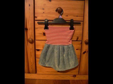 Sukně z riflí malá/jeans recyclation/recyklace riflí/baby jeans skirt - YouTube