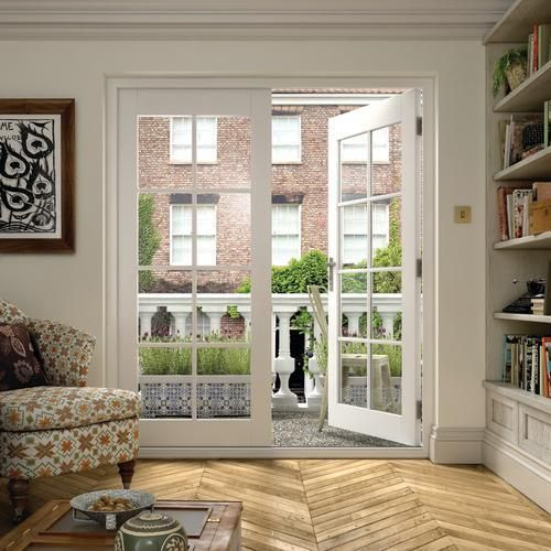 Large image of coniston georgian bar white french doors for Small exterior french doors