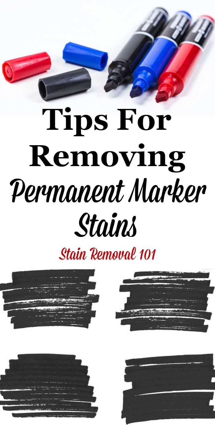 Removing Permanent Marker Stains Tips And Tricks You Can Use