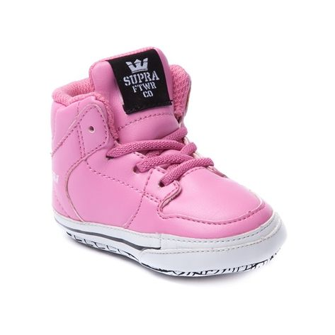 shop for crib supra vaider skate shoe in pink at journeys