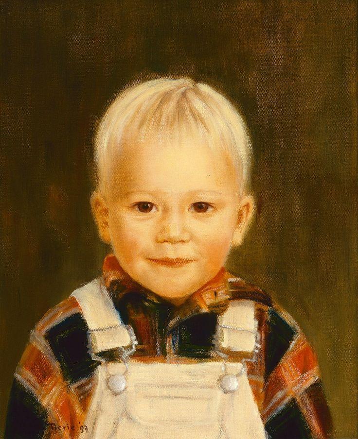 Joep, oil on canvas, 30 x 40 cm, commissioned portrait by Patty van Loon 1997 www.pattyvanloon.nl