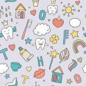 Pattern with magic teeth — Vetores de Stock