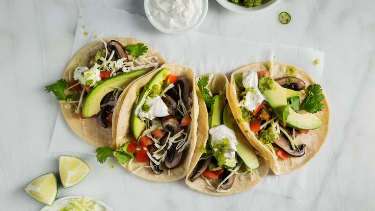 Grilled Portobello Tacos with Salsa Verde. Juicy, earthy portobello mushrooms make these tacos a mouthwatering treat.