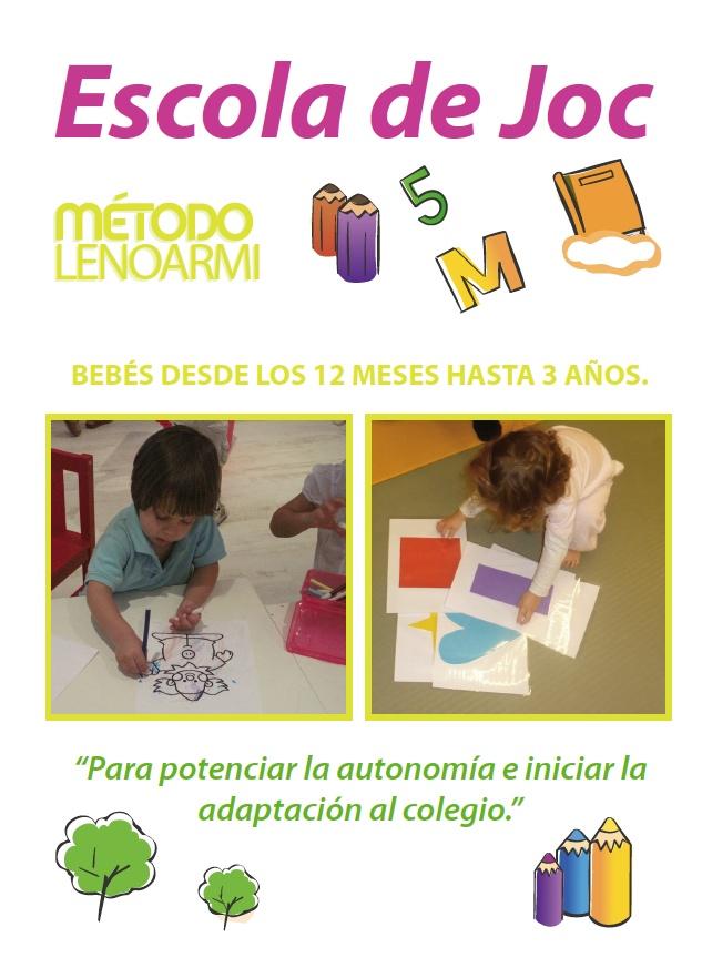 Escola de joc - L'adaptació a l'escola per a nens des de 12 mesos fins els 3 anys a Lenoarmi. Actividades bebés barcelona