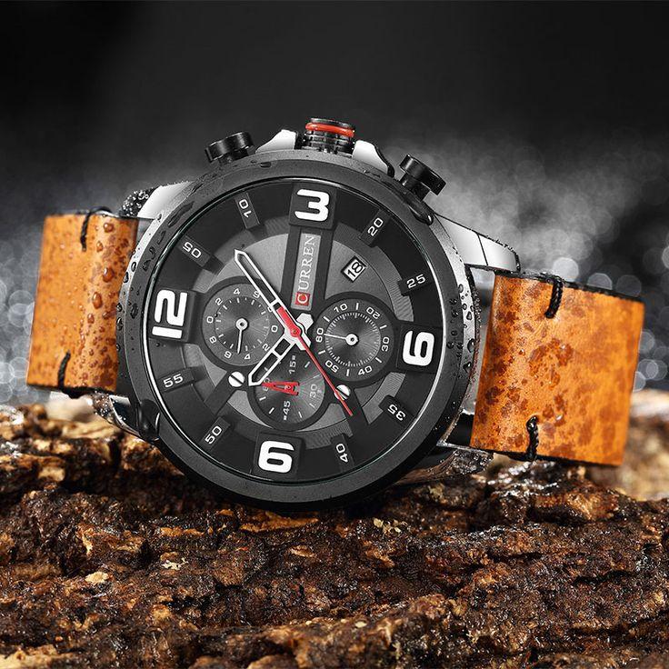 CURREN 8288 Chronograph Calendar Quartz Wrist Watch