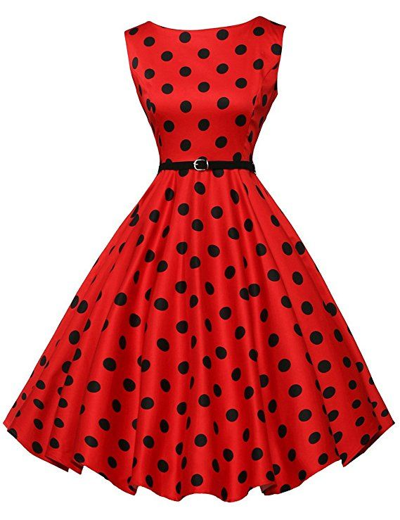 36268fdbb4b8f GRACE KARIN Audrey Hepburn Dress for Women 50s Style Sleeveless Size ...