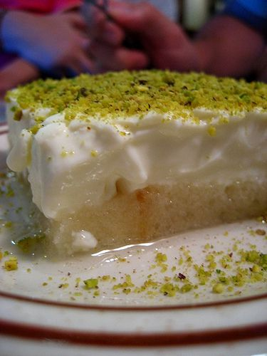 ''Aish el Saraya'' is a famous Lebanese dessert that is made with French bread slices and Muhallabieh (blancmange) and is cooked in Ramadan, some holydays and fête-days such as ''Eid ul-Fitr''. ''Aish el-Saraya'' means ''the bread of royal palace'' and some people believe it originates in Palestine.