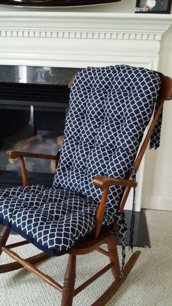 quatrefoil custom rocking chair cushions glider replacement pads rocker cushions - Chair Pads