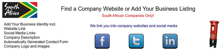 The Corporate Website Index | Online South Africa Business Directory. Built for business to manage their own web.