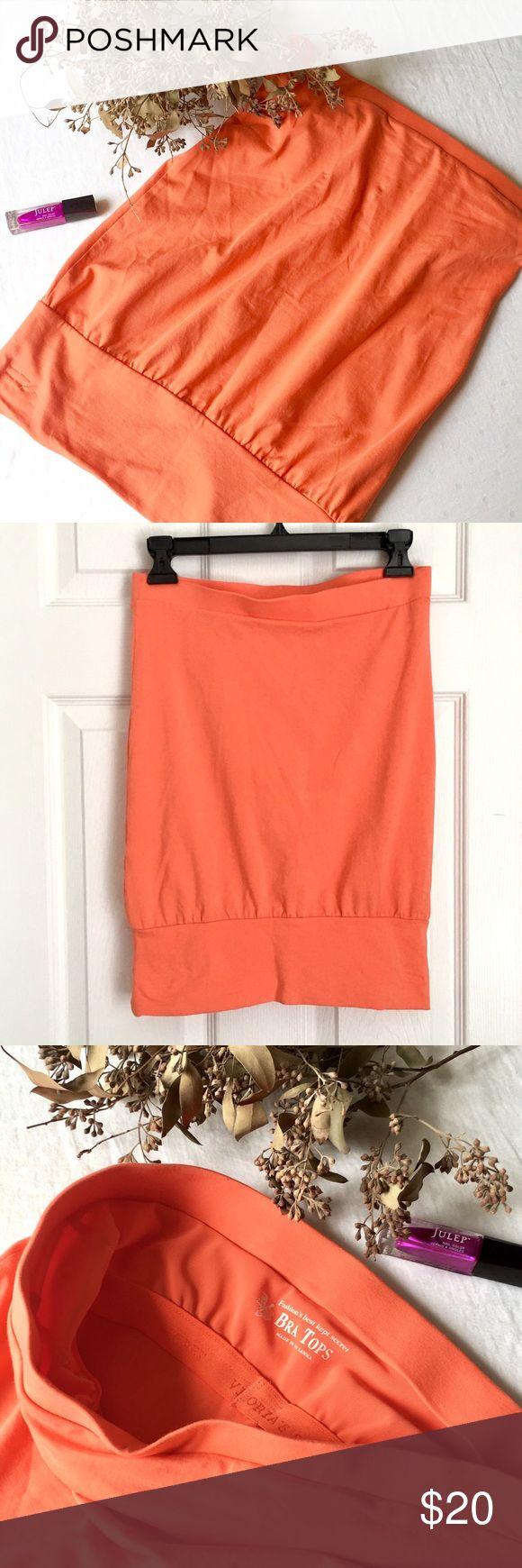 VS Bandeau Bra Top in Orange Sherbet! XS Victoria's Secret Bra Tops XS Bandeau in Orange Sherbet! So comfy and cute! Made in Sri Lanka. Victoria's Secret Tops