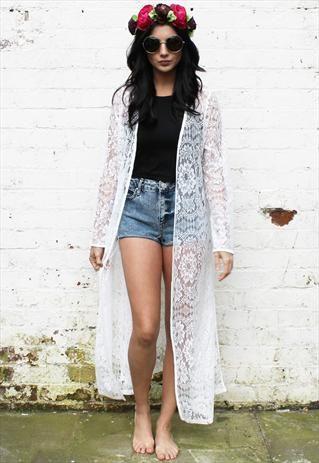 Festival Lace Maxi Kimono £28.00