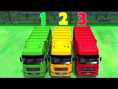 learn numbers colors spiderman cartoon in garbage truck colors cars for kids nursery
