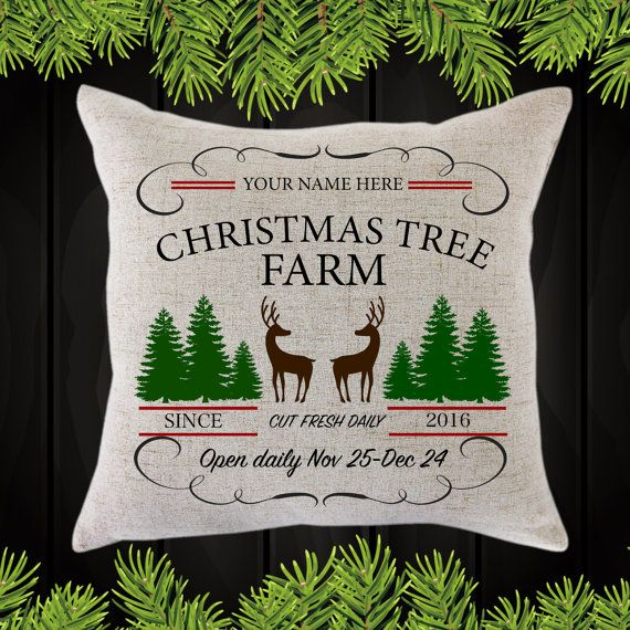 Personalized Christmas Tree Farm Throw Pillow / by JamminThread