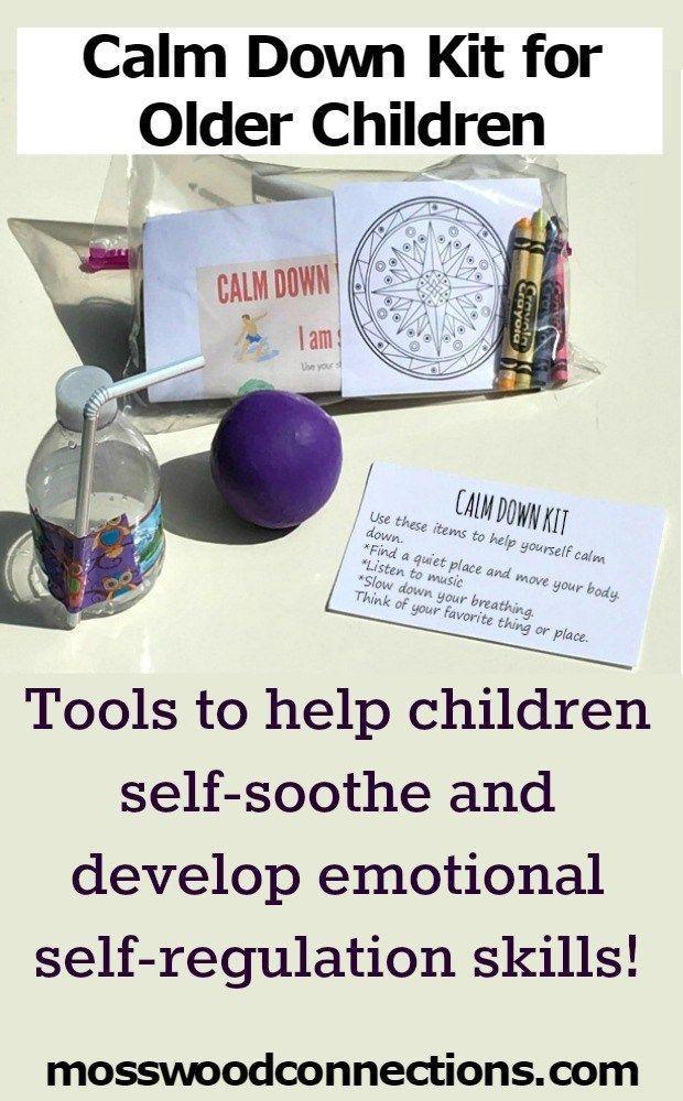 Calm Down Kit for Older Children; Developing Emotional Self-Regulation