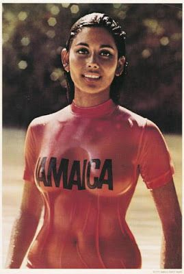 Sexy jamaica tourist board promotional poster 1972 jtb
