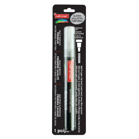 Glitter Medium Tip Multi-Surface Premium Paint Pen By Craft
