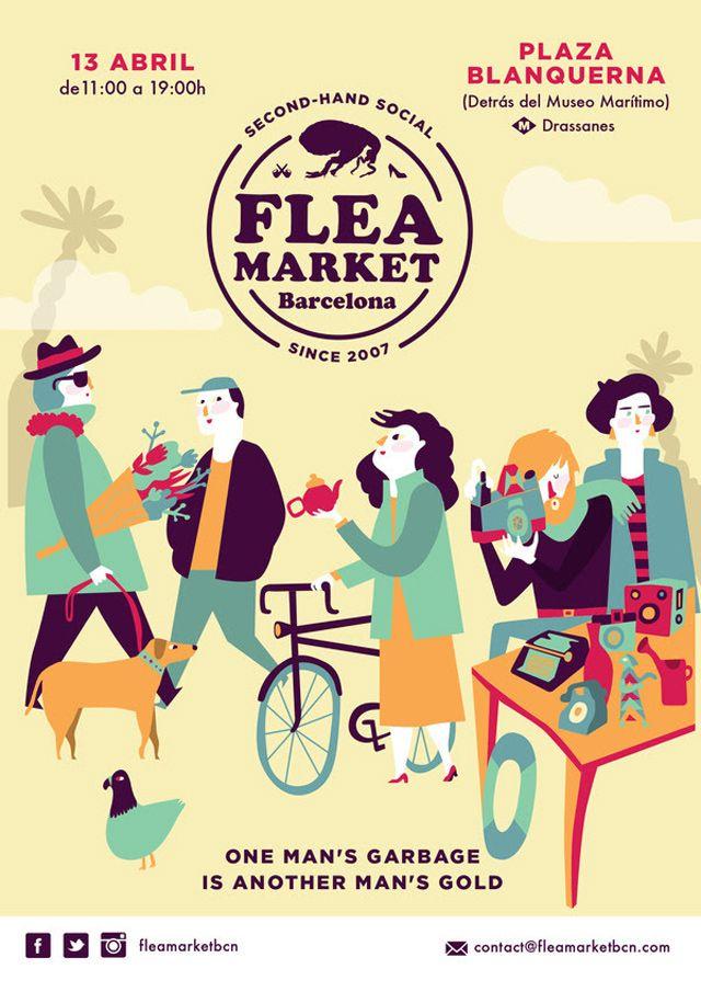 flea market barcelona abril
