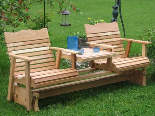 Dual glider Adirondack chairs | Garden Ideas | Pinterest ...