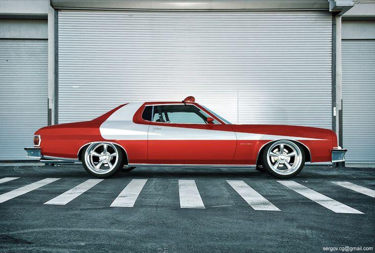 Ford Gran Torino de 1975 color rojo El que usaban Starsky y Hutch ...