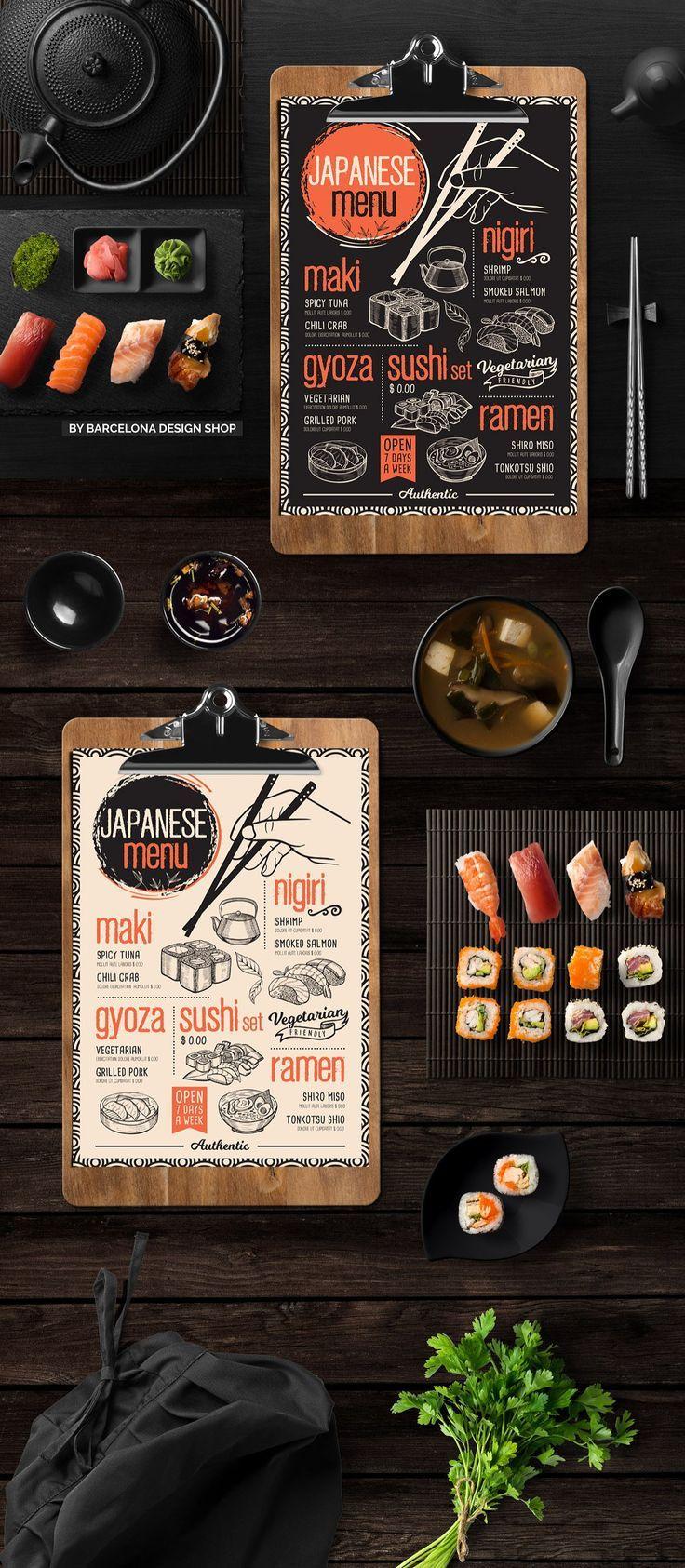 Free Trifold Asian Food Menu Japanese Food Menu Food Menu Design Food Menu