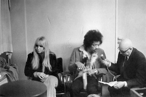 With Monika Dannemann: Dusseldorf, Germany 1969-01-12