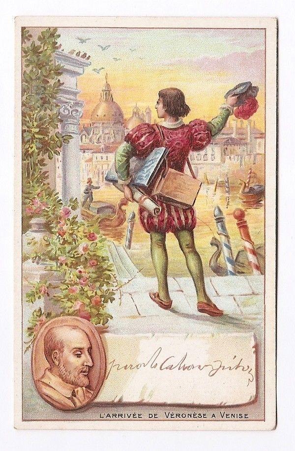 L Arrivée de Véronèse à Venise  - Chromo - Trade card