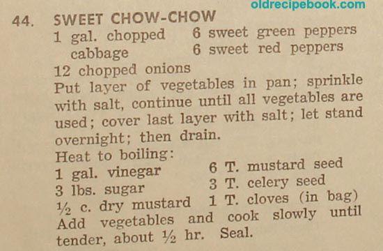 sweet chow chow