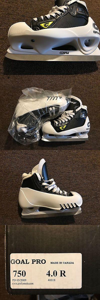 Other Hockey Skates 165935: Graf Supra Goal Pro 750 Junior Goalie Skates Size 4.0 -> BUY IT NOW ONLY: $75 on eBay!