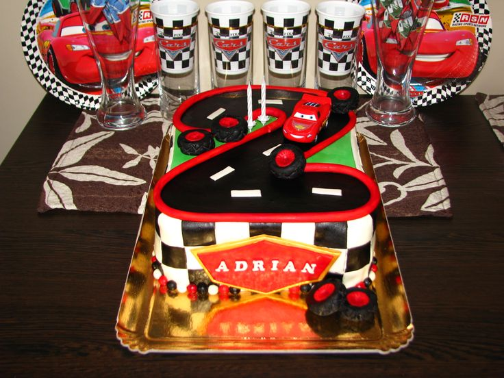Cars cake for Adrian's 2nd birthday VII