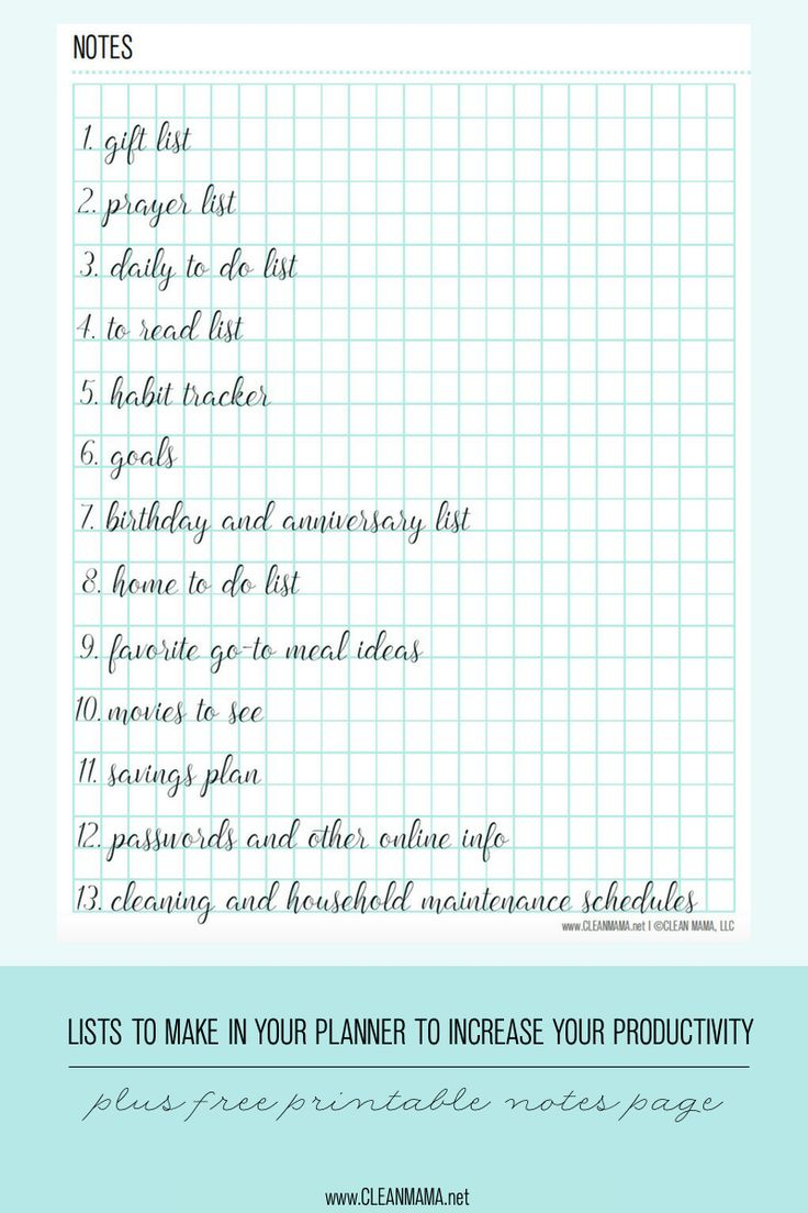Increase your productivity and make your planner work for you with help from this FREE printable.
