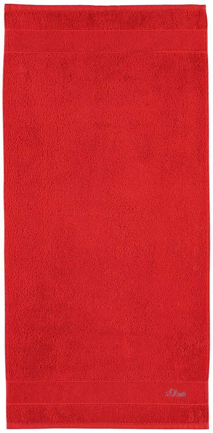 Leuchtende Handtücher »Uni Stick« von s.Oliver. Diese Frotteetücher verschönern jedes Badezimmer mit ihren tollen Farben - ganz schlicht und doch so wirkungsvoll kann »unifarben« sein. Die extra flauschige Walkfrottee-Qualität aus 100% Baumwolle, der Kordelaufhänger und die Logostickerei begeistern zusätzlich. Freuen Sie sich auf diese hochwertigen Tücher in Ihrem Badezimmer.  Artikeldetails:  ...