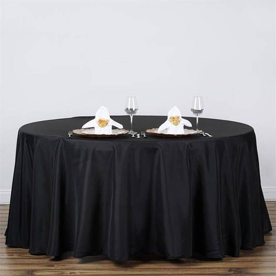 Black Polyester Round Tablecloth Wedding Tablecloth Wedding
