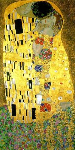 Gustav Klimt - The Kiss - Art Noveau Poster