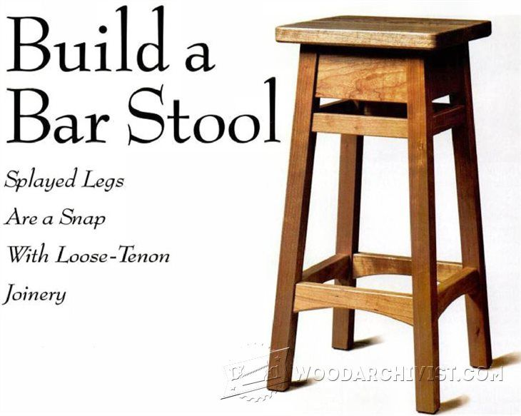 Diy Bar Stool Furniture Plans And Projects