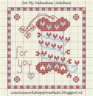 Valentine free cross stitch