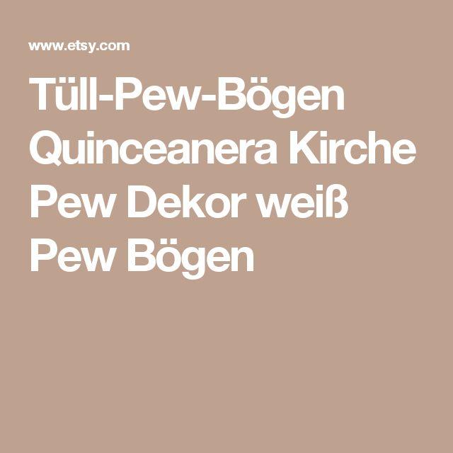 Tüll-Pew-Bögen Quinceanera Kirche Pew Dekor weiß Pew Bögen