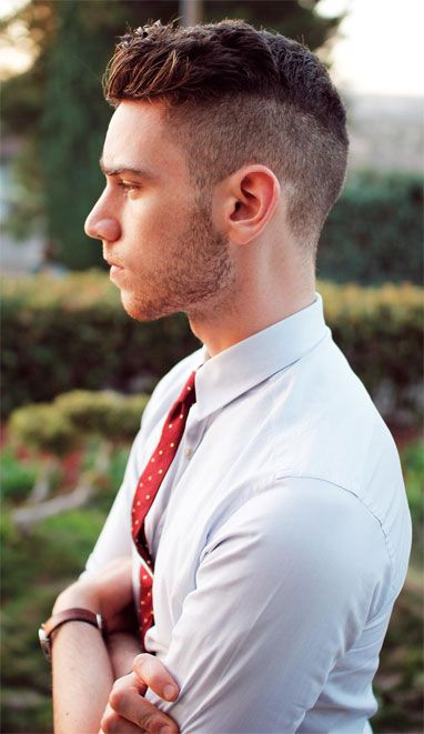 Mens hairstyles 2014 short back and sides long on top. Hair short back long front mens. Mens short hairstyles for thick hair 2014. Mens hairstyles for thick hair and round face.