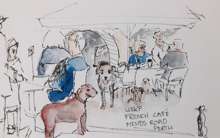 Dogs welcome at the French Cafe