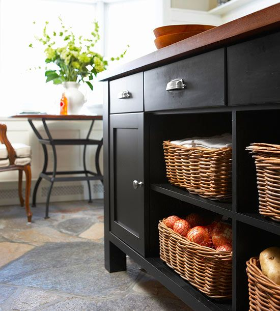 Natural Fibers: Islands Style, Wicker Baskets, Open Shelves, Small Kitchens, Kitchens Ideas, Fabulous Farmhouse, Kitchens Islands, Farmhouse Kitchens, Cabinets Doors