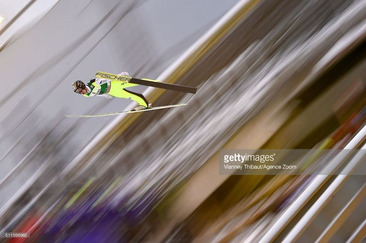 Roman Koudelka of the Czech Republic competes during the FIS Nordic World Cup Men's Ski Jumping HS130 on February 21, 2016 in Lahti, Finland © Vianney THIBAUT/Agence Zoom