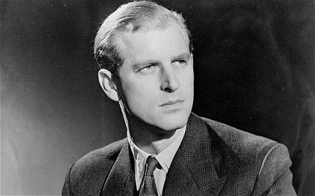 Prince Philip of Greece and Denmark (b. 10 June 1921), 5th and youngest child and only son of Princess Alice of Greece and Denmark, nee of Battenberg.  Exiled from his homeland as a baby, Philip grew up and was educated in France, Germany, and Britain.  In 1928, as his family was beginning to crumble, he went to live with British relatives.  Philip joined the Royal Navy in 1939, the same year he began corresponding with a certain teenager who would later become Queen of England and his wife.