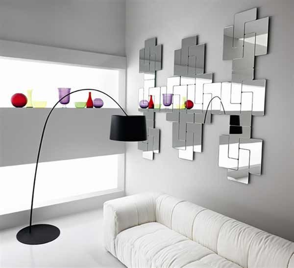 Tetris Mirror A Good Alternative For Wall Decorating What Kind Of Mirror Shape You Have In Your Home Mirror Wall Living Room Rustic Wall Mirrors Mirror Wall #oversized #wall #mirrors #for #living #room