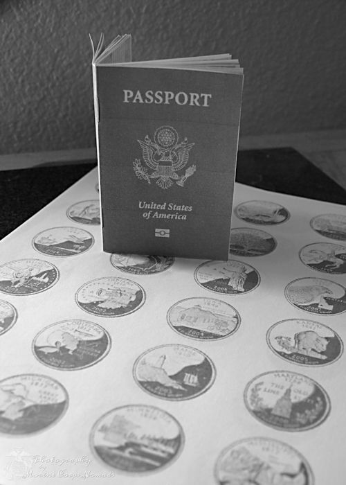 "Printable State Study Passport-""stamp"" the passport each time you complete the study of a state."