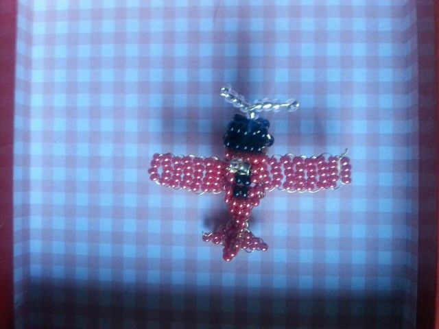 Aeroplanino di perline